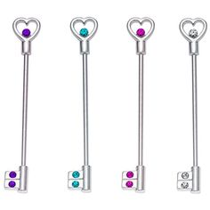 Key industrial piercing earrings!! So Cute!! :D Once the roller coaster season is done, I want to get my industrial re-done $9.99