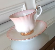 Antique Royal Albert Pink Rainbow tea cup and by Pickedtwice, $32.00