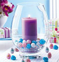 Easter Candle Decoration