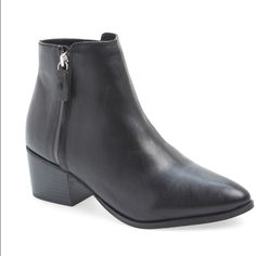 TopShop Bardot Heeled Ankle Boots NWT brand new.  Still had TopShop tag. While it is Euro Size 38 these RUN SMALL. I am a 7.5 and these are a tad too small. Perfect condition! Topshop Shoes Ankle Boots & Booties