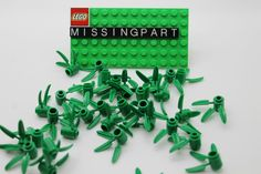 Lego x 33 Green Plants With 3 Bamboo Leaves Park City Town 30176