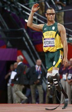 """""""As soon as we crossed the line we were friends,"""" Pistorius said.  Competitors, not enemies."""