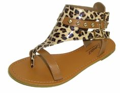 Snooki's Cheetah Hooded Gladiator Sandals