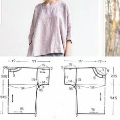 Kimono Sewing Pattern, Bodice Pattern, Pants Pattern, Top Pattern, Beginner Sewing Patterns, Sewing Basics, Sewing Tutorials, Sewing Clothes, Diy Clothes