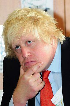 Boris's bad hair days: Boris Johnson at Shaftebury Park Primary School, Battersea,
