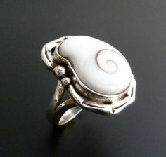 Sterling Silver Shiva Eye Ring  Handmade Silver Ring by fishsilver, $75.00