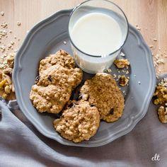 Cookies mit Cranberries, Haferflocken und Walnüssen