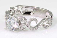 Filagree Engagement Ring by Cherie Dori