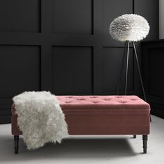 Buy Safina King Size Buttoned Wing Back Ottoman Bed in Silver Grey Velvet from - the UK's leading online furniture and bed store Hall Bench With Storage, Storage Ottoman Bench, Ottoman Bed, Upholstered Bench, Bedroom Storage Bench, Pink Ottoman, Entryway Bench, Duck Egg Blue Velvet, Pink Velvet
