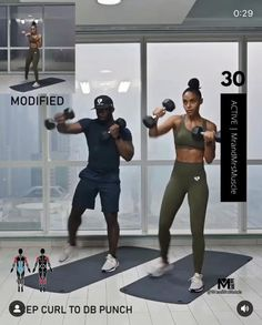 Fitness Workouts, Full Body Hiit Workout, Gym Workout Videos, Gym Workout For Beginners, Fitness Workout For Women, Dumbbell Workout, Body Fitness, Fitness Motivation, Fitness Routines