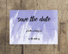 Violet Save the Date www.etsy.com/uk/shop/PippinPrints