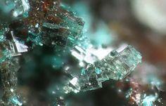 Pharmacosiderite. Majuba Hill Mine, Pershing Co., Nevada FOV=1 mm Photo Hannes Osterhammer