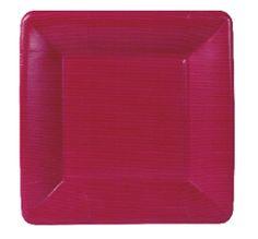 Plato pequeño de cartón rosa