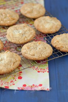 White Chocolate Chunk Macadamia Cookies/You could omit the white chocolate and use milk chocolate instead if you wanted...  http://www.annies-eats.com/2013/02/22/white-chocolate-chunk-macadamia-nut-cookies/