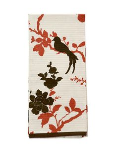 Floral Dish Towels  Simple, modern, adorable — that bird! And only $10 for a pack of three. DWELLSTUDIO FOR TARGET: target.com.