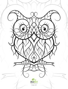 OwlyGirl | DiceBird free printable coloring pages