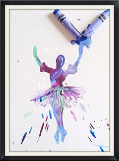 Items similar to Melted crayon painting of ballet dancers exploding out of crayons on Etsy Crayon Crafts, Diy Crafts, Crayola Art, Crayon Painting, Melting Crayons, Art Classroom, Art Club, Art Lessons, Ballerina Sketch