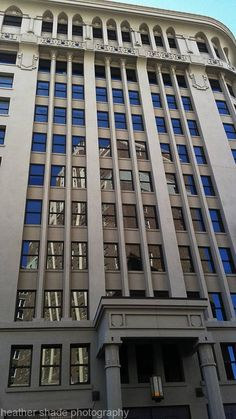 The Plaza Hotel (constructed 1929-1930) reflected in the windows of the Anson Mills Building (constructed 1910-1911), Downtown El Paso... photo by: Heather Shade, May 2015