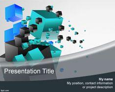 Excelente fondo con efectos 3D de cubos en el espacio para presentaciones de PowerPoint