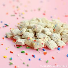 Share Tweet Pin Mail These Cake Batter Muddy Buddies are fun to make with the kids and even easier to eat! I have a hard ...