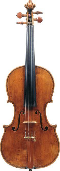 Giovanni Battista Ceruti  (circa 1805)  A Violin Cremona, circa 1805  Labelled Laurentius Storioni fecit Cremona 1777  Length of back: 35.5 cm  Scroll by Lorenzo Storioni
