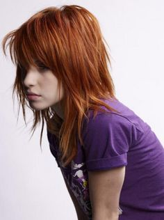Love the haircut and color. Want a chunky layered look.