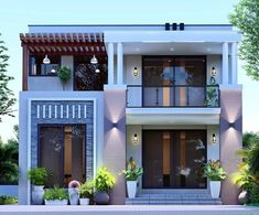 You can turn your house into a very nice place. 2 Storey House Design, Bungalow House Design, House Front Design, Modern House Design, Beautiful Modern Homes, Architectural House Plans, House Elevation, Front Elevation, Kerala House Design