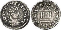 Denier au buste de Lothaire Ier frappé vers 833 - 6) LOTHAIRE 1°- 1.Biographie: En 838, réconcilié avec Lothaire, Louis le Pieux opère un nouveau partage à Worms (Allemagne), 3 mai 839. Lothaire reçoit, outre l'Italie, la portion orientale du royaume franc. Après la mort de son père en 840, ses 2 frères, Louis le Germanique et Charles, refusent de le reconnaître comme suzerain.
