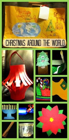 Christmas Around The World Unit - Includes suitcase, passport, country crafts (China, Italy, Israel, Ethiopia, Holland, Germany, England, Sweden, Mexico, France), and more!