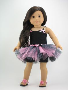 American Girl doll clothes 3 piece tutu by DolliciousClothes, $18.50