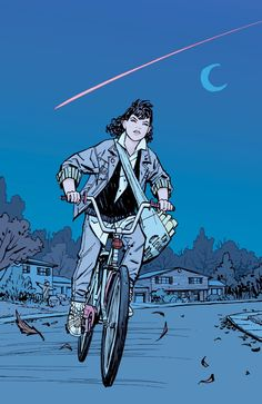 Paper Girls interior art by Cliff Chiang *