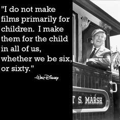 Walt Disney makes me smile :D This quote=reason why one can never be too old for a good Disney movie Walt Disney World, Walt Disney Quotes, Disney Facts, Disney Movie Rewards, Disney Love, Disney Magic, Disney Stuff, Walter Elias Disney, Nostalgia