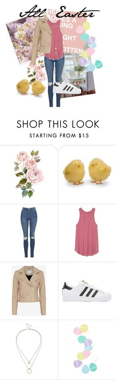 """""""Happy Easter everyone"""" by trendygirlxx on Polyvore featuring mode, Topshop, IRO, adidas Originals, Sole Society en Levtex"""