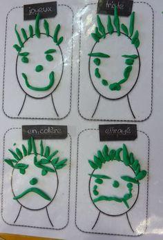 réaliser 4 expressies différentes en pâte à modeler in 2020 Emotions Preschool, Preschool Activities, Motor Activities, Educational Activities, Toddler Activities, Art For Kids, Crafts For Kids, Recycled Crafts, Kids And Parenting
