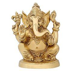 Hindu God Statues Ganesha Religious Sculpture Brass India Style Décor 6.5 inch ShalinIndia http://www.amazon.in/dp/B010M3KAYK/ref=cm_sw_r_pi_dp_Z7T3vb18N98FD