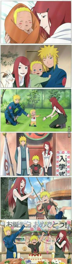 Naruto's life with his parents.. if they were still alive, that is.
