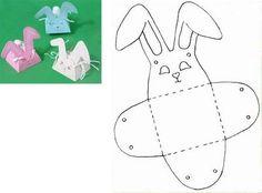 Lavoretti di Pasqua Cestini, coniglietti, gallinelle, pulcini, agnellini, uova, scatoline