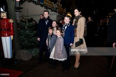 Crown Prince Frederik and Crown Princess Mary arrive with children to the premiere of the Tarkovsky 'The Nutcracker' ballet in Tivoli which has the Queen as production and costume designer on December 1, 2016 in Copenhagen, Denmark.