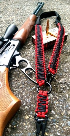 These are custom made rifle slings that can be used as it says, you have two slings in one. The rifle slings are adjustable to make them comfortable for the user. You can pretty much mount this rifle
