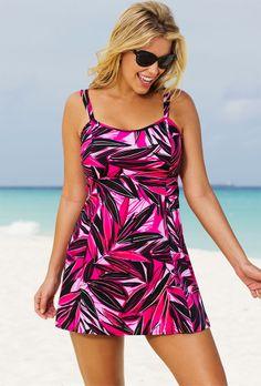 Beach Belle Palmdale Plus Size Lingerie Swimdress