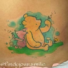 Watercolor tattoo - I would love to get this. My mom has a Winnie the pooh tattoo for my dad & this would be adorable.