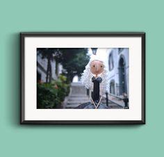 Fine Art Photography - Artistic Photography - Doll Photography - Paper Mache Doll - Wall Art - Gibraltar - Street - Blond Girl
