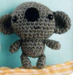 Amigurumi Koala Tutorial : free koala knitting pattern toy Knitting Pinterest ...