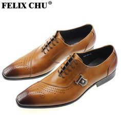 wedding design Picture - More Detailed Picture about FELIX CHU Italian  Designer Black Brown Brogue Shoes Genuine Leather Lace Up Men Formal Dress  Oxfords ... 883cda6cf7ea