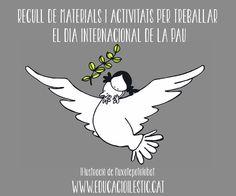 Recull de materials i activitats per treballar el Dia Internacional de la Pau Dodged A Bullet, African Art, Poster, Style, International Day, Peace Education, International Day Of, One Day, Peace