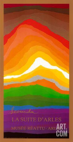 Volcano Art Print by Arthur Secunda at Art.com