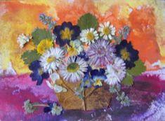 Pressed Flower Art, Flowers, Painting, Painting Art, Paintings, Royal Icing Flowers, Painted Canvas, Flower, Florals