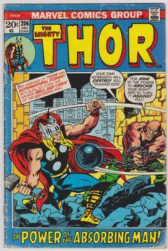 Thor Marvel Comics Vol1 #206 GD 2.0