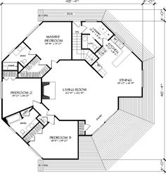 I would only need top half of plan . Main Floor Plan image of The Octagon House Plan The only problem is one missing bathroom door! I used to say I was going to build a round house and tell my kids to sit in the corner. This will so work! Round House Plans, Dream House Plans, Small House Plans, House Floor Plans, Casa Octagonal, The Plan, How To Plan, Plan Restaurant, Octagon House
