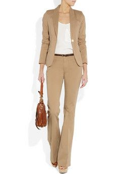I want this - tan cotton suit separates